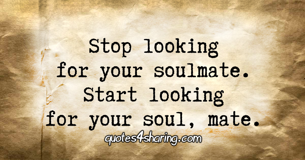 Looking for soulmate