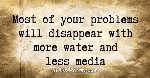 Most of your problems will disappear with more water and less media
